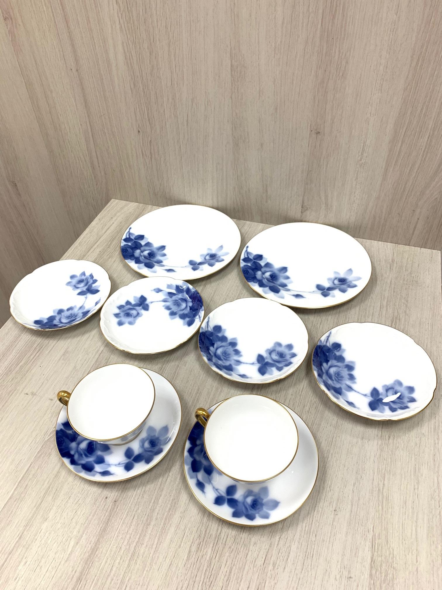 買取わかばイオン藤沢湘南ライフタウン店ブランド食器オークラブルーローズ食器セット高価買取させて頂きました!
